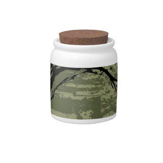 Abstract Tree Art Candy Jar
