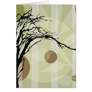 Abstract Tree Art Card