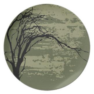 Abstract Tree Art Dinner Plate