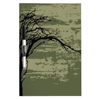 Abstract Tree Art Dry-Erase Board