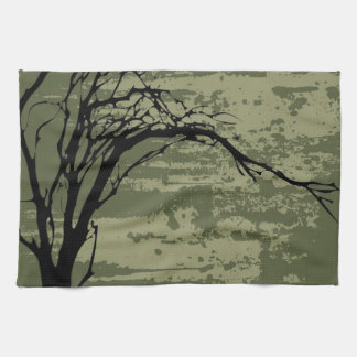 Abstract Tree Art Kitchen Towels