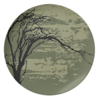 Abstract Tree Art Plate
