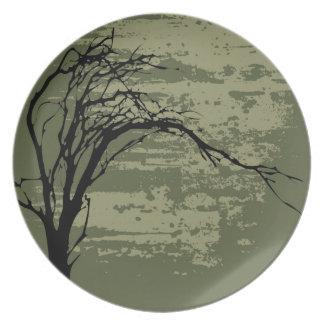 Abstract Tree Art Plates