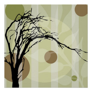 Abstract Tree Art Poster