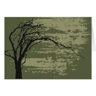 Abstract Tree Art v3 Card