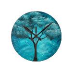 Abstract Tree Art Wall Clock