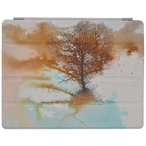 Abstract Tree Artwork Pen Ink Watercolor iPad Smart Cover