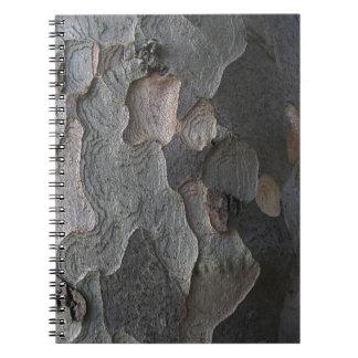 Abstract tree bark notebook