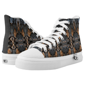 Abstract Tree Bark Wood Design Printed Shoes