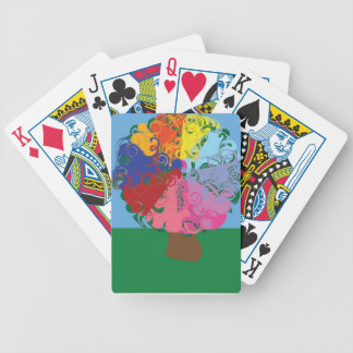 Abstract Tree Bicycle Playing Cards
