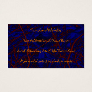 Abstract Tree Branches Business Card