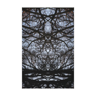 Abstract tree branches pattern canvas print