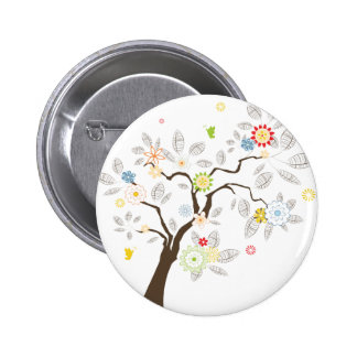 Abstract Tree 2 Inch Round Button