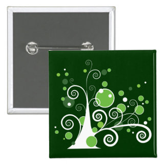 Abstract Tree 2 Inch Square Button