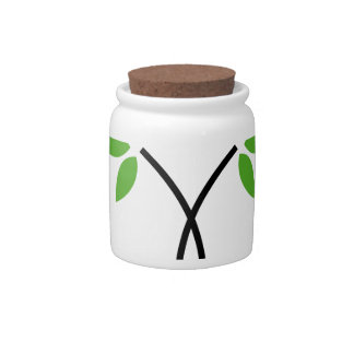 Abstract tree candy jar