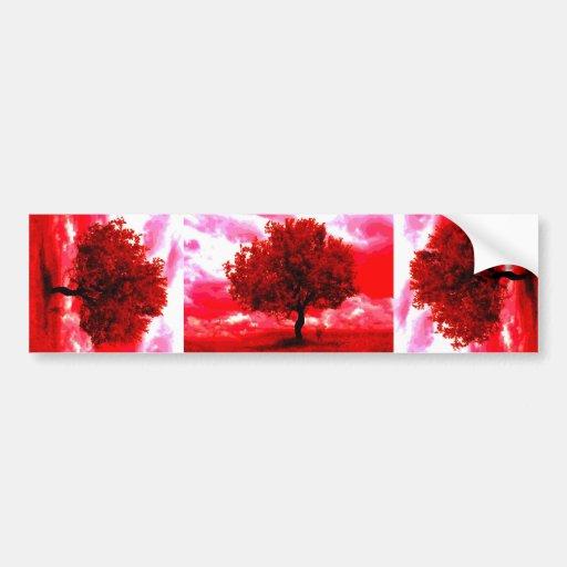 Abstract Tree Car Bumper Sticker