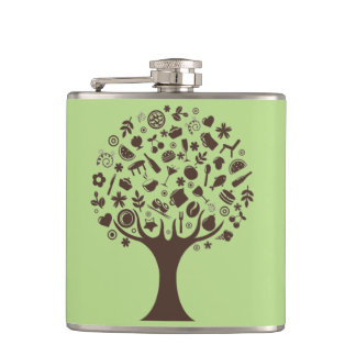 Abstract Tree Hip Flask
