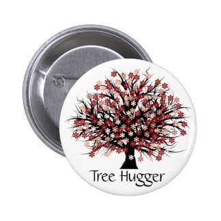 Abstract Tree Hugger 2 Inch Round Button