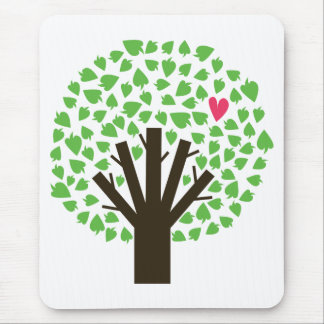 Abstract Tree Hugger Mouse Pad