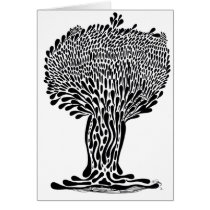artsprojekt, nature, ink, leaves, abstract, garden, blackandwhite, original, contemporary, tree, plants, drawing, Card with custom graphic design