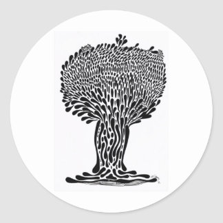 Abstract Tree II Round Stickers