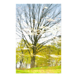 Abstract tree in autumn stationery