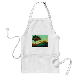 abstract tree landscape apron