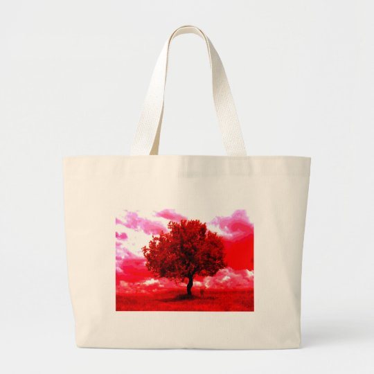 Abstract Tree Large Tote Bag