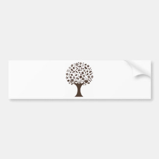 Abstract Tree Made of Various Items Bumper Sticker