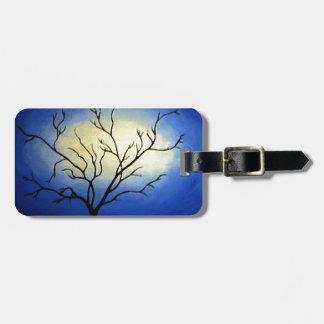 Abstract Tree - Modern Art Bag Tag