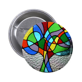 Abstract Tree of Life Badge 2 Inch Round Button