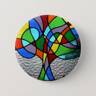 Abstract Tree of Life Badge Pinback Button