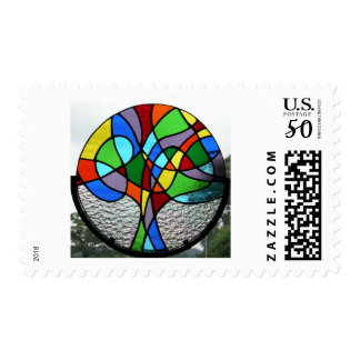 Abstract Tree of Life Postage