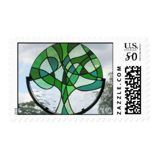 Abstract Tree of Life Postage Stamp