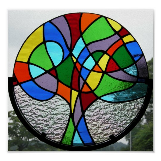 Abstract Tree of Life Poster