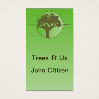 Abstract tree on green gradient business card