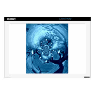 Abstract Tree Owls Art Laptop Decal