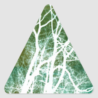 Abstract Tree Photography Triangle Sticker