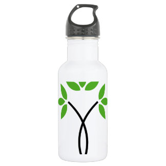 Abstract tree water bottle