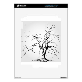 Abstract tree with fallen leaves skins for the iPad 2