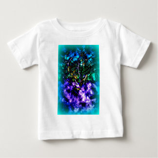 Abstract tree with Light Blue Border Baby T-Shirt