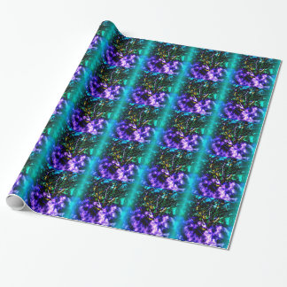 Abstract tree with Light Blue Border Wrapping Paper