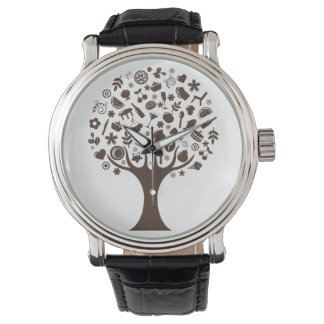 Abstract Tree Wristwatches