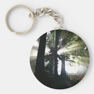 Abstract Trees Keychain