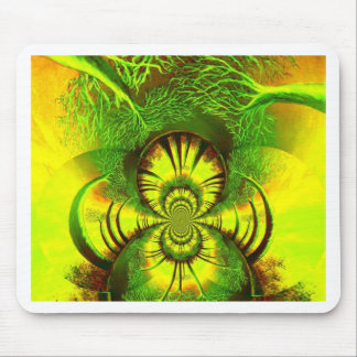 abstract trees mouse pad