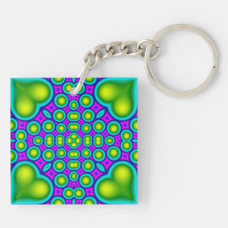 Abstract trendy pattern keychain