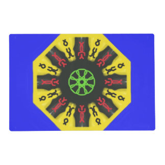 Abstract trendy pattern placemat