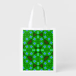Abstract trendy pattern reusable grocery bags