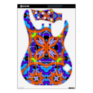 Abstract trendy pattern guitar hero decals