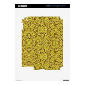 Abstract Trendy  Pattern Yellow iPad 3 Decal